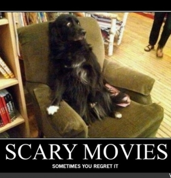 Watching a Scary Movie!